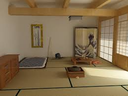 traditional japanese interior design wooden low profilebed feat