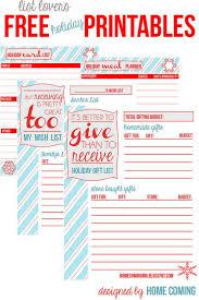 santa gift list 31 free christmas printables