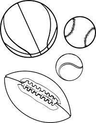 free printable sports balls coloring kids