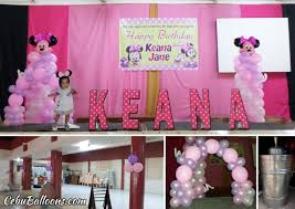 minnie mouse birthday decorations minnie mouse birthday decoration for keana at cebu chamber of
