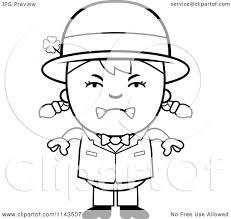 cartoon clipart of a black and white mad child leprechaun