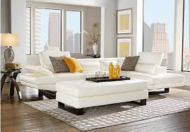 rooms to go white table shiloh white 3 pc sectional living room shiloh sectional living