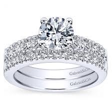 gabriel and co wedding bands gabriel co pave diamond set bridal set
