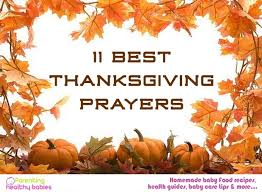 11 best thanksgiving prayers