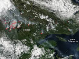 Canada Wildfire Satellite by Fires Continue Raging