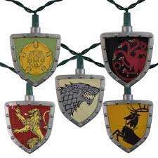 game of thrones light hbo game of thrones house sigil shield string lights