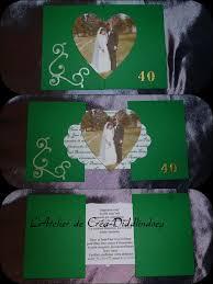 40 ans de mariage carte scrapbooking invitations anniversaire de mariage version