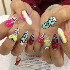 neon nails design neon nail designs neon nails and braid hairstyles