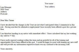 nhs resignation letter example resignation letter examples