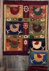 Memes Quilts - pattern spring chickens by memes quilts 40 x 48 applique and