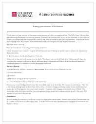 Best Resumes 2014 by Nursing Resume Free Nurse Resume Examples