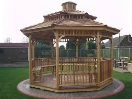 Octagon House Kits by Cedarshed 12 Ft Octagon Gazebo Two Tier Roof Option 128ttr