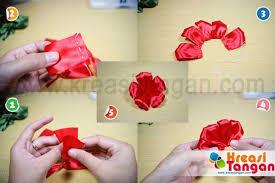 cara membuat bunga dari kertas pita jepang kreasi kerajinan tangan dari pita kreasi tangan