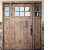 Shaker Style Exterior Doors by Krosswood Knotty Alder 6 Lite 2 Panel Craftsman Door W Dentil