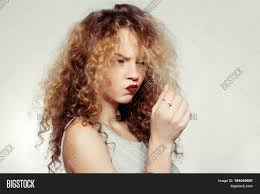 people youth and beauty concept beauty woman with curly big and