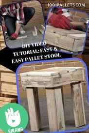 1001 Pallet by Diy Tutorial Fast Pallet Stool U2022 1001 Pallets