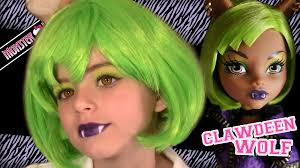 clawdeen wolf dawn of the dance monster high doll costume makeup tutorial for you