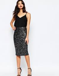 sequin skirt warehouse tinsel sequin skirt midi feminine dresses skirts