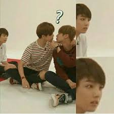 Baby Meme Face - jungkookie baby is so confused and shook looking at baby boo jimin