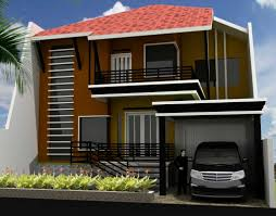 small exterior design for 2 floor house