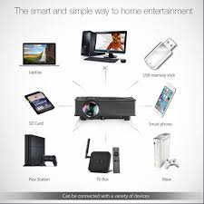 portable wifi projector hizek 1200 lumens led wireless home
