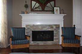 Unique And Beautiful Stone Fireplace by View Stacked Stone Tile Fireplace Room Ideas Renovation Beautiful