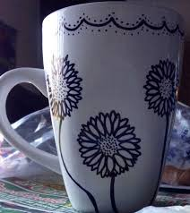 sharpie mug design with flowers diy pinterest flowers