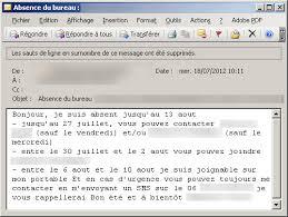 absence bureau outlook mails d absence les meilleurs messages automatiques pendant les