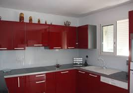 meuble de cuisine en verre revetement mural cuisine credence maison design bahbe