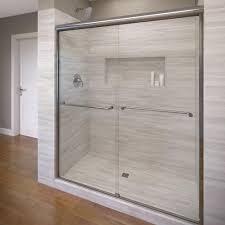1000 Sliding Shower Door Basco Celesta 60 In X 71 1 4 In Semi Frameless Sliding Shower