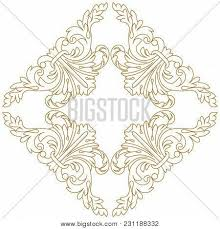 golden vintage ornament baroque vector photo bigstock
