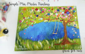 simple mix media painting for kids u2013 mum craft