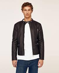 biker jacket double sided biker jacket view all jackets man zara united states