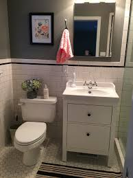 Ikea Bathroom Storage by 28 Hemnes Bathroom Cabinet Thrifty Bathroom Makeover With An