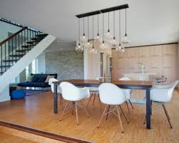 modern dining room lighting fixtures pendant light height above