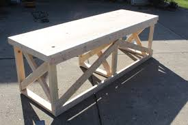 Diy Trestle Desk How To Build This Trestle Desk From Scrap Lumber