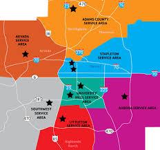 Lone Tree Colorado Map by Sports Locations Denver Ymca
