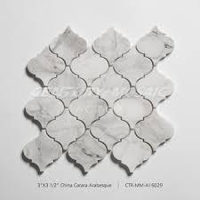 Arabesque Backsplash Tile by Century Mosaic Water Jet China Carrara Arabesque Backsplash Tile