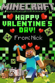 minecraft valentines cards techno reviews minecraft cards minecraft card ebay