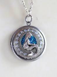 necklace locket images Personalized mermaid locket necklacejewelry gift jpg