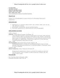 dancer resume template resume resume template free