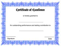 Free Certificate Of Excellence Template Free Printable Certificate Of Excellence Template