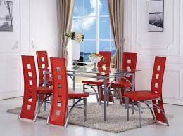 Acme Dining Room Sets by Kathie Dining Room Set W Red Chairs Acme Furniture Furniture Cart