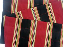 dignity valance curtains red black stripes 44 inches wide