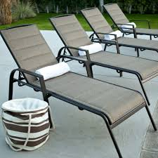 Sling Patio Chairs Hampton Bay Belleville Padded Sling Outdoor Chaise Lounge