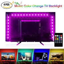 music led strip lights newest 2018 music led strip lights 6 56ft for 40 60in tv pangton