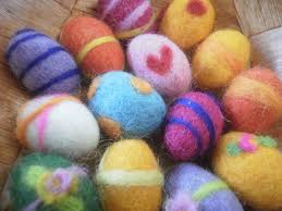 felted easter eggs needle felting weavers
