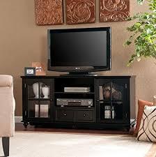 Entertainment Storage Cabinets Amazon Com Hanover Black Modern Entertainment Center Tv Stand