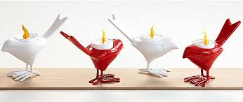 Decorative Item For Home Interior Chic Red And White Shaped Candle Holders That Function