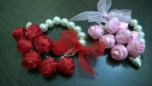 handmade flower bracelet images D i y satin rose friendship day bracelet myindulzens jpg